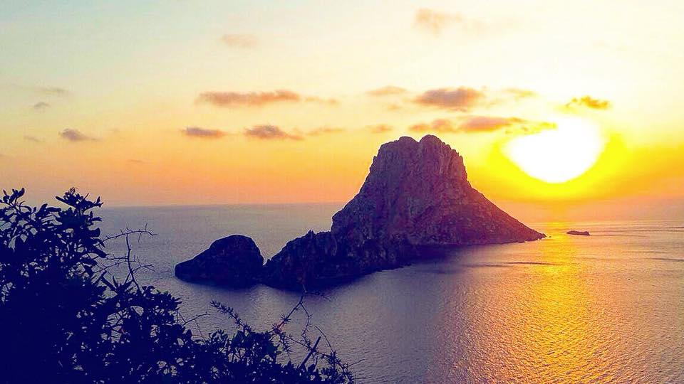 Magical sunset over Es Vedra, Ibiza