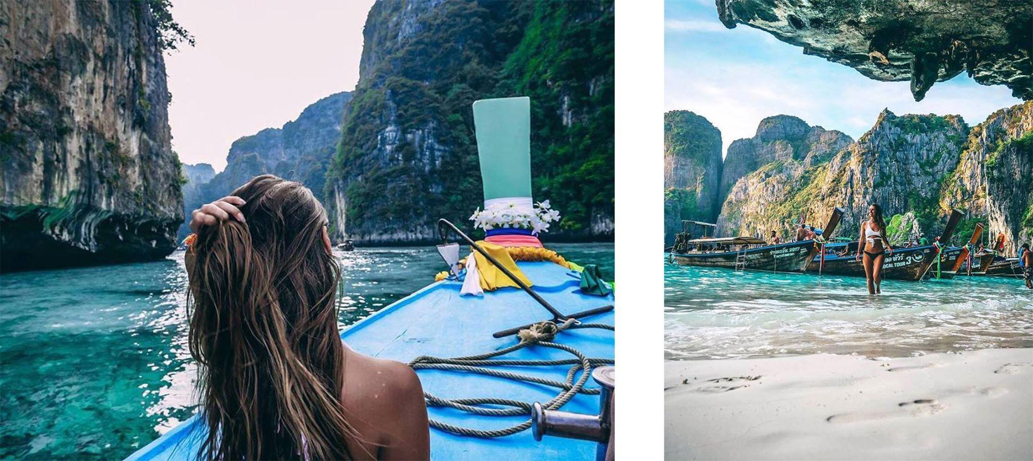 maya bay by long-tail boat