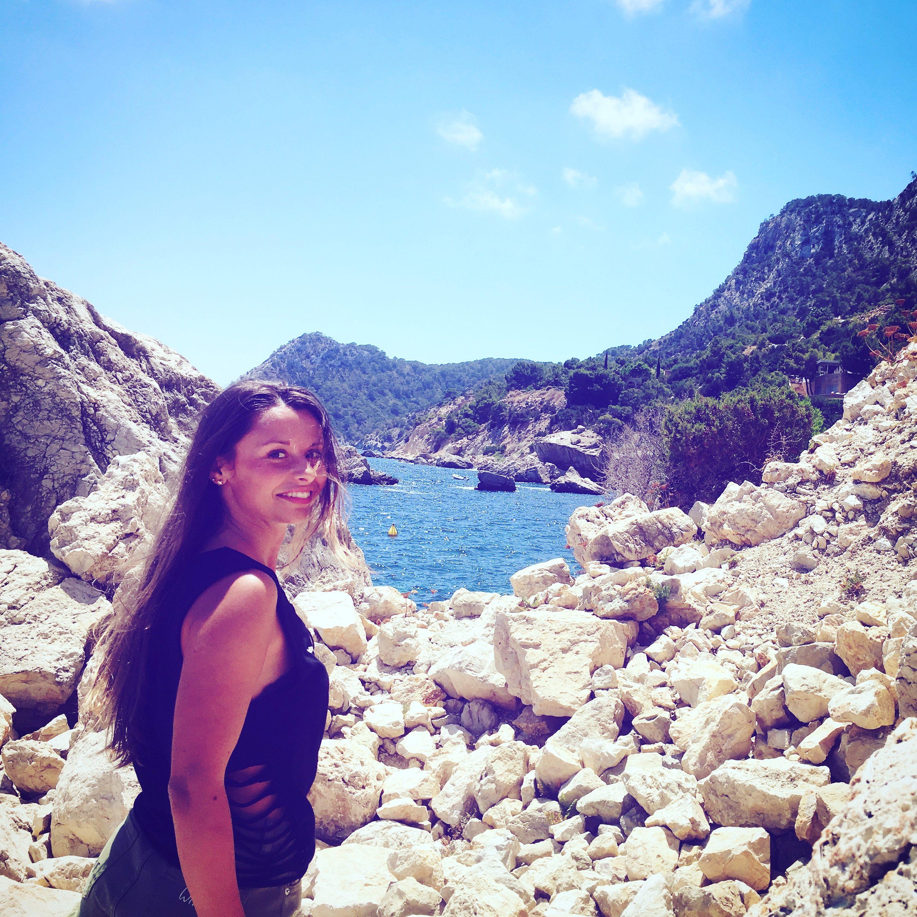 best secret beach on ibiza -Es Niu de s´Aguila beach on the Magical Island Ibiza