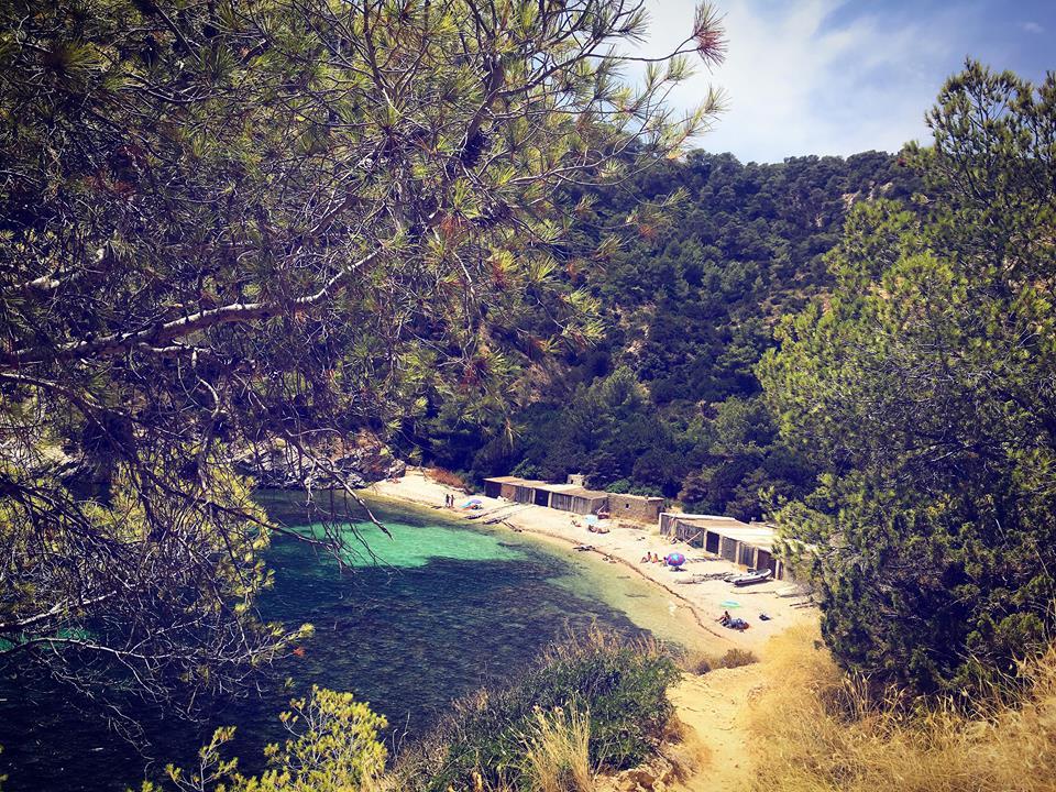 Secret beach Ibiza Cala Llentrisca